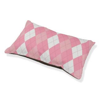 BabyGirl Argyle Doggie Sleeper Pet Bed