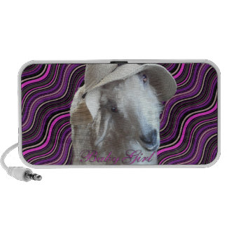 BabyGirl Goat Doodle Mini Speakers