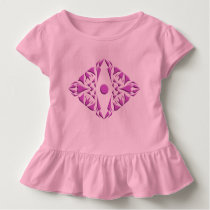 Babygirl ruffled dress with pattern design.