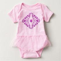 Babygirl tutu with pattern design. baby bodysuit