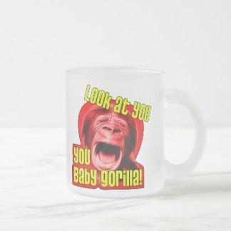 babygorilla1 frosted glass coffee mug