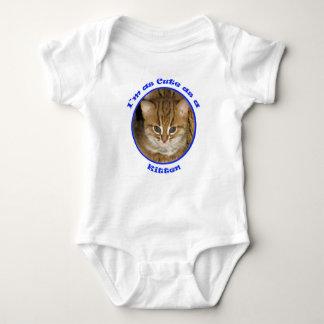 Babygrow - lindo como azul del gatito playeras