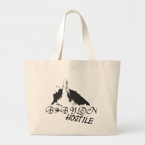 Babylon hostile tote bags