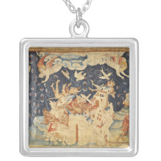 Babylon Invaded by Demons Silver Plated Necklace