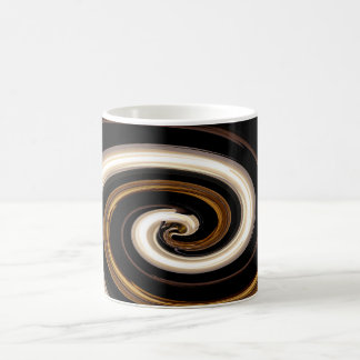 Babylon Swirl in black, white, brown and gold Coffee Mug