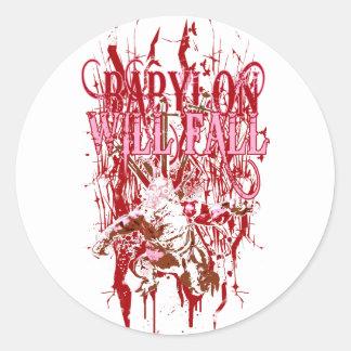 Babylon Will Fall Classic Round Sticker