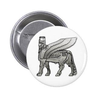 Babylonian Winged Bull Lamassu Pinback Button