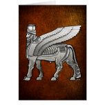 Babylonian Winged Bull Lamassu Card