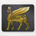 Babylonian Winged Bull Lamassu Mouse Pad