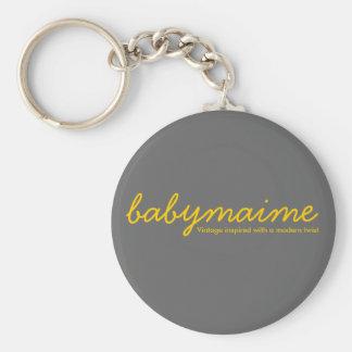 babymaime, Vintage inspired with a modern twist Basic Round Button Keychain