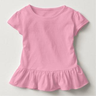 babyPINK del ROSA de la camiseta del volante del