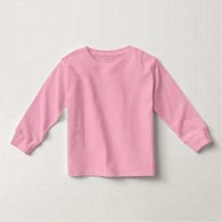 babyPINK largo del ROSA de la camiseta de la manga
