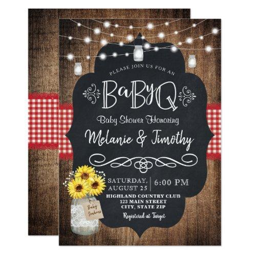 BabyQ Baby BBQ Country Baby Shower Invitations