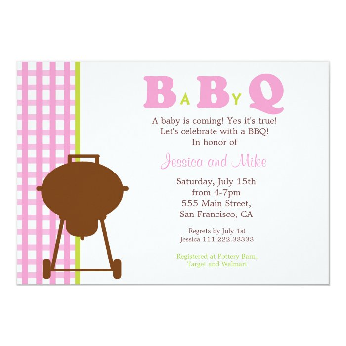 BaByQ BBQ Baby Shower Invitation