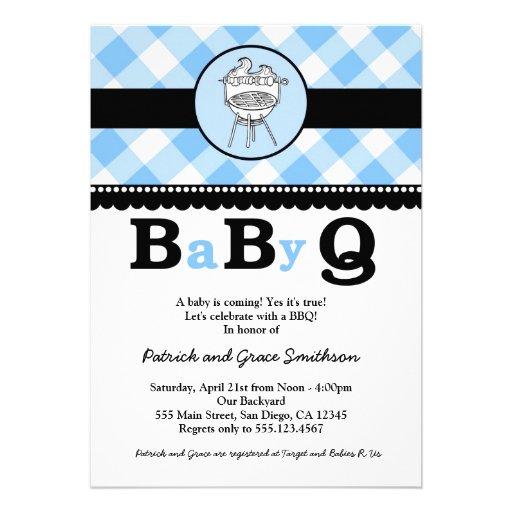 babyq bbq baby shower invitations 5 x 7 invitation card zazzle