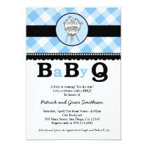 "BaByQ BBQ Baby Shower Invitations 5"" X 7"" Invitation Card"