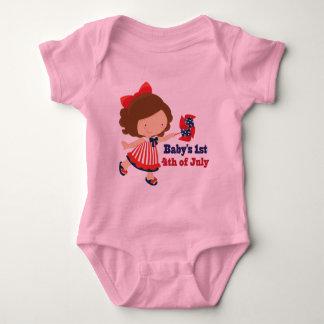 Babys 1st 4th of July Baby Bodysuit