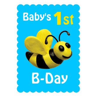 Baby's 1st B-Day Party Card