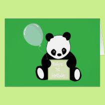 Baby's 1st birthday cute panda bear greeting card