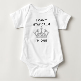 Baby's 1st Birthday Fun I Can't Stay Calm I'm One Baby Bodysuit