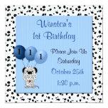 Babys 1st Birthday Party Invitation Blue