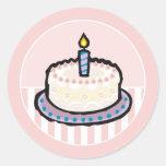 Baby's 1st Birthday Party Invitation Stickers