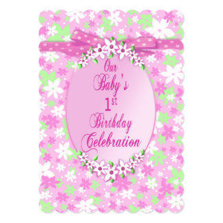 Baby's 1st Birthday Party Invitation - Ultra Sweet