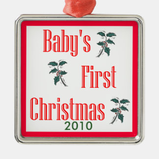 Baby's 1st Christmas 2010 Metal Ornament