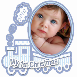 Baby's 1st Christmas 2010 Your Baby Photo Statuette