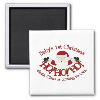 Babys 1st Christmas 2 Inch Square Magnet