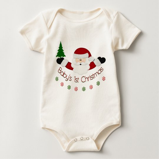 Babys 1st Christmas Baby Bodysuit