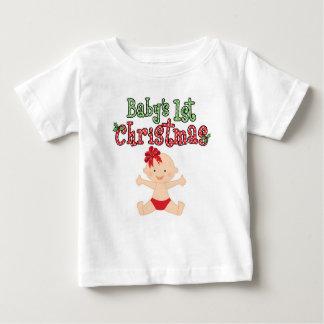 Baby's 1st Christmas Baby Girl Baby T-Shirt