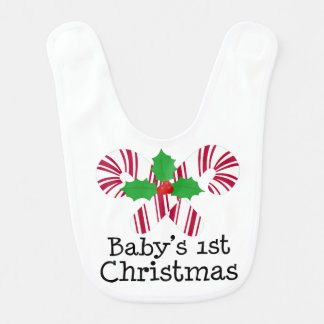 Baby's 1st Christmas Bib (Candy Cane)