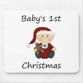 Baby's 1st Christmas (boy) Mouse Pad