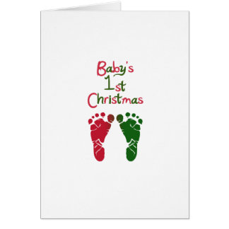 Baby's 1st Christmas Greeting Cards