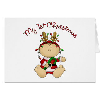 Babys 1st Christmas Greeting Card