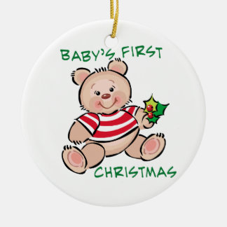 Baby's 1st Christmas Ceramic Ornament