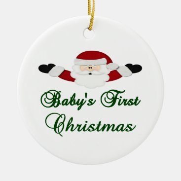 Toddler & Baby themed Babys 1st Christmas Ceramic Ornament