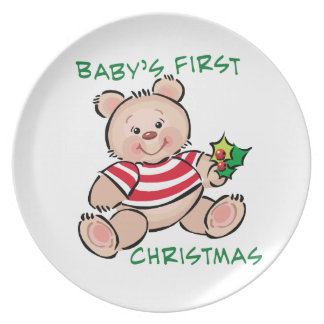 Baby's 1st Christmas Dinner Plate