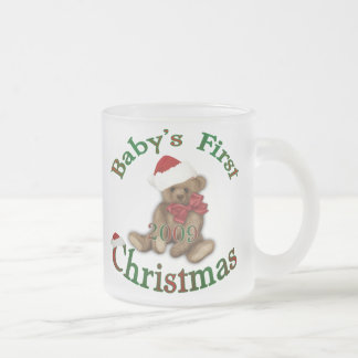 Babys 1st Christmas Frosted Glass Coffee Mug