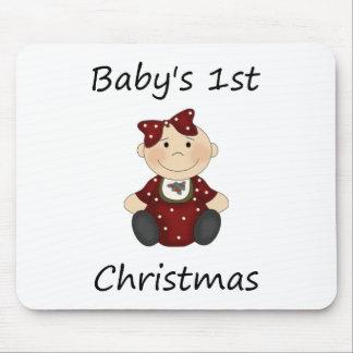 Baby's 1st Christmas (girl) Mouse Pad