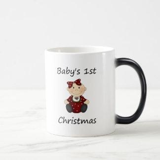 Baby's 1st Christmas (girl) 11 Oz Magic Heat Color-Changing Coffee Mug