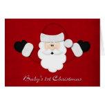 Babys 1st Christmas Greeting Card