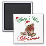 Babys 1st Christmas Magnets