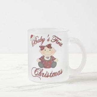 Babys 1st Christmas 10 Oz Frosted Glass Coffee Mug