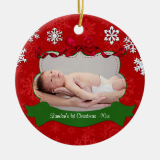 Baby's 1st Christmas Personalized Photo Ornament