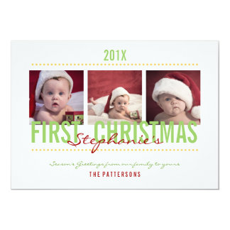 Baby's 1st Christmas Photo Card for Baby