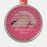 Baby's 1st Christmas - Pink Snowflakes Ornament