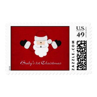 Babys 1st Christmas Postage Stamps