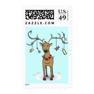 Baby's 1st Christmas Postage - Reindeer